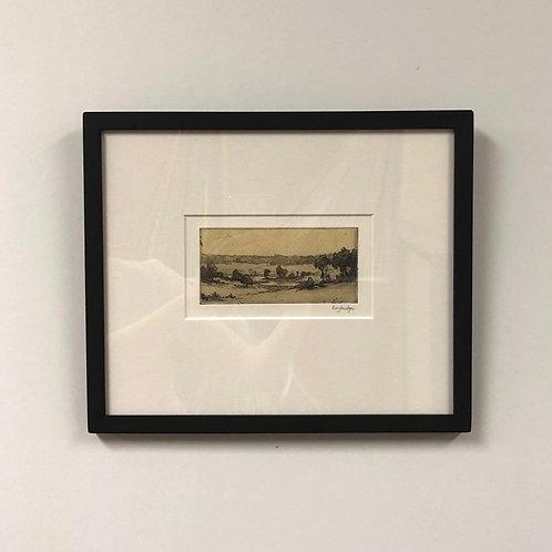 "Stuart Loughridge ""Wisconsin Landscape"" Etching"