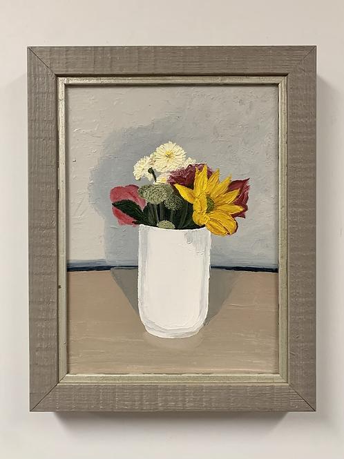 Sunny Flowers Oil Painting by Sam Patnoe