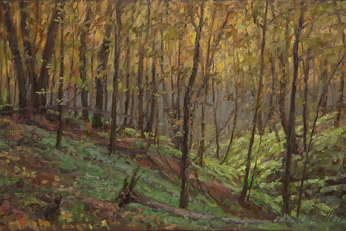"""Forest Hillside"" Hannah C. Heyer Oil Painting"