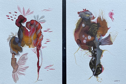 #5,6 Watercolor Set of 2 by Suyao Tian