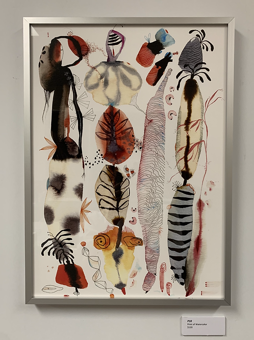 P10 Framed Print of Watercolor by Suyao Tian