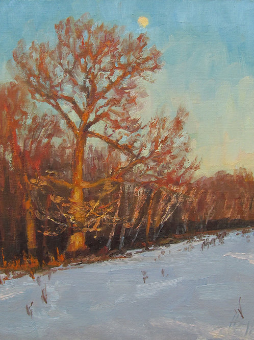 """Snow Moon"" Hannah C. Heyer Oil Painting"