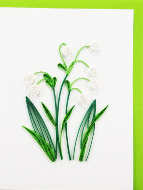 Iconic Quilling Lily of the Valley Greeting Card
