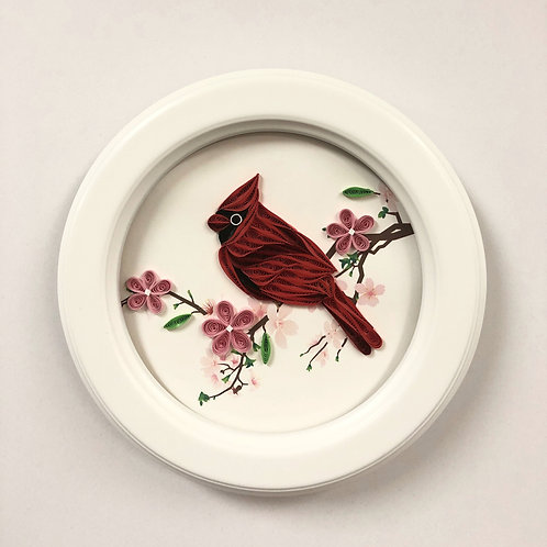 SOLD Cardinal Quilling Art