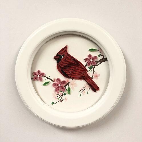 Cardinal Quilling Art