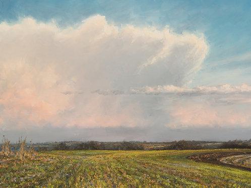 """April Anvil Cloud"" Hannah C. Heyer Oil Painting"