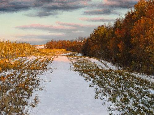 """""""An Early Snowfall"""" Hannah C. Heyer Oil Painting"""