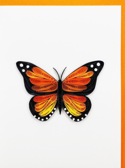 Iconic Quilling Monarch Butterfly Greeting Card