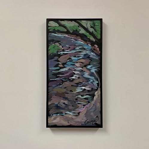 "Kat Corrigan ""Curving Creekside"" Acrylic Canvas"