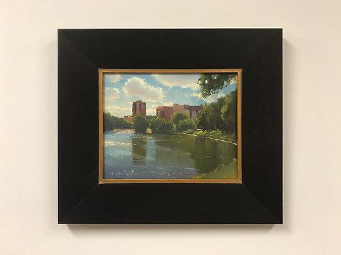"Bob Upton ""Across Lake Calhoun"" Oil Painting"