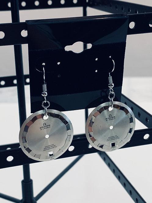 Bitz of Time Silver Watch Face Earrings