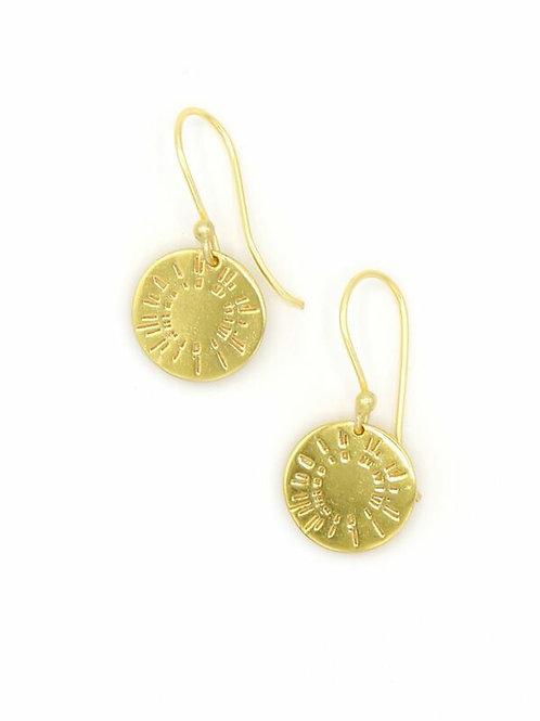 """SOLD Fair Anita Brass """"Burst"""" Earrings"""