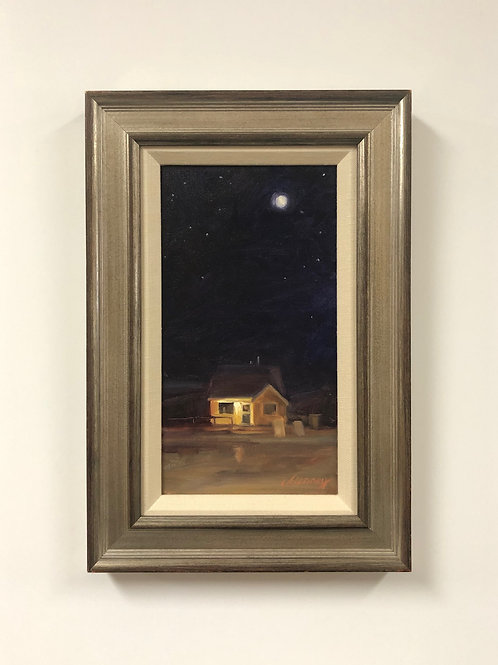 """Christine Tierney """"Little Yellow Shoppe Under Full Moon"""""""