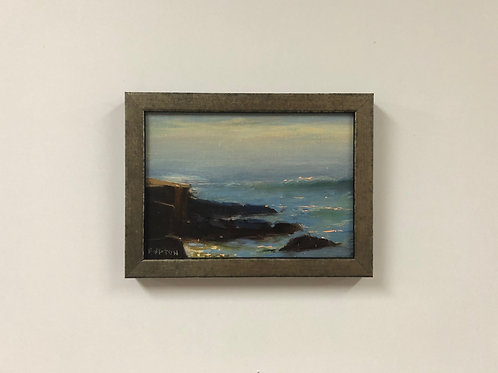 "Bob Upton ""Waves on the Rocks"" Oil Painting"