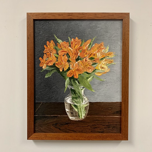 Tiger Lilies Oil Painting by Sam Patnoe