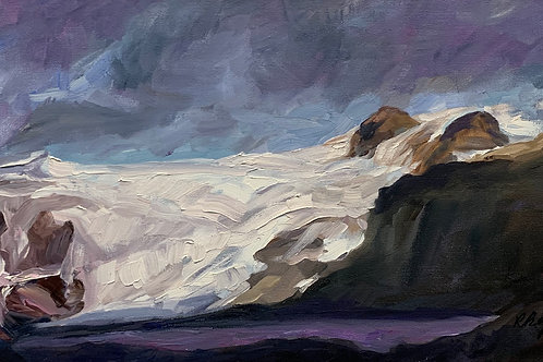 Approaching a Glacier Near Skaftafell by Rita Beyer Corrigan