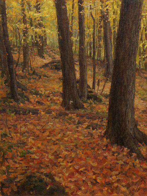 """Overhead and Underfoot"" Hannah C. Heyer Oil Painting"