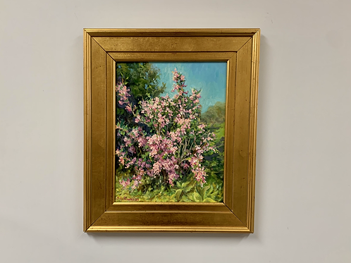 """Judy Palermo """"Sun-Washed Weigela"""" Oil on Linen Painting"""