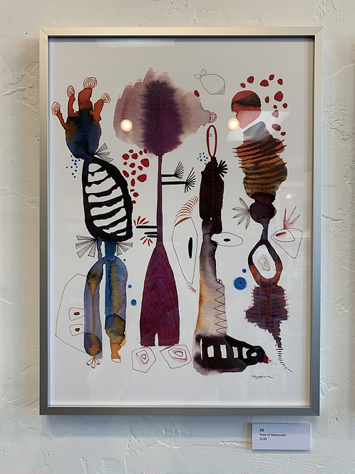 P2 Framed Print of Watercolor by Suyao Tian