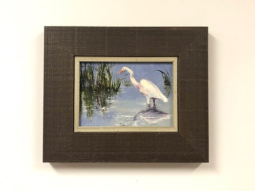 "SOLD Tracie Thompson ""Great White Egret"""
