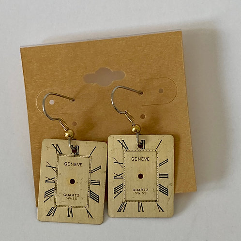 Bitz of Time Watch Face Earrings
