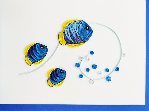 Iconic Quilling 3 Fish Greeting Card