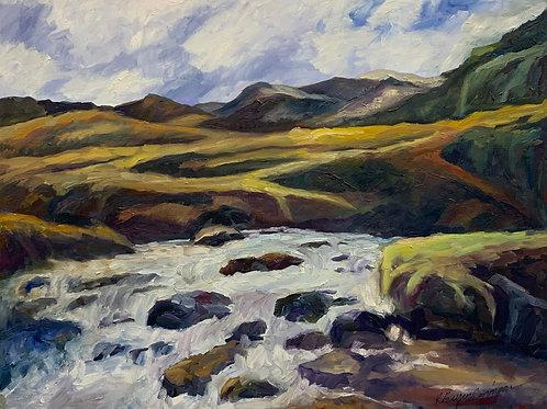 Below Kirkjufellsfoss, Western Peninsula by Rita Beyer Corrigan