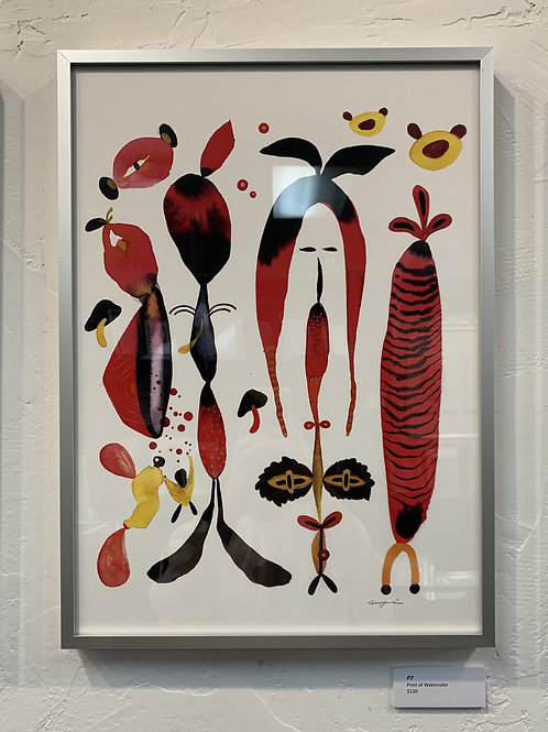P7 Framed Print of Watercolor by Suyao Tian