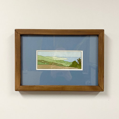 SOLD View From Pincushion Watercolor by Andrew Grum Carr