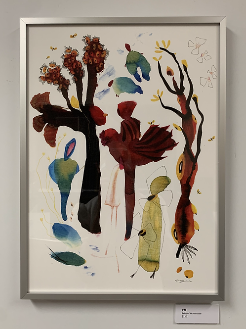 P11 Framed Print of Watercolor by Suyao Tian