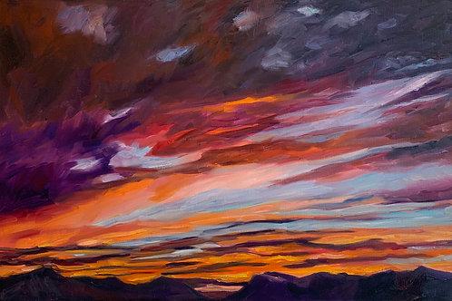 Sunset at Skaftafell by Rita Beyer Corrigan