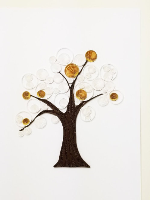 Iconic Quilling Winter Tree Greeting Card