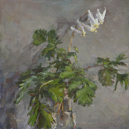 "SOLD ""Dutchman's Breeches"" Hannah C. Heyer Oil Painting"