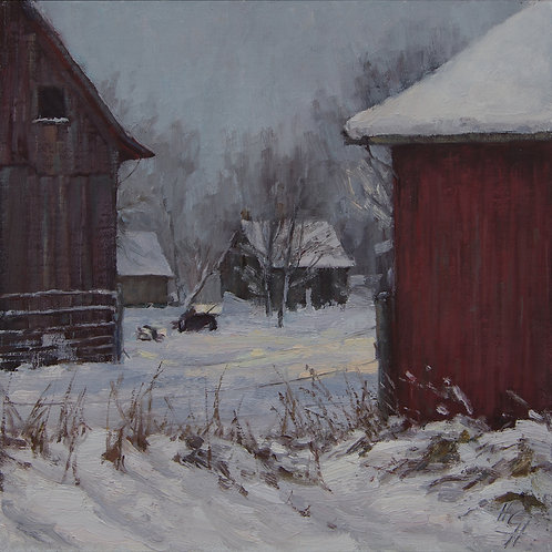 """Weathering"" Hannah C. Heyer Oil Painting"