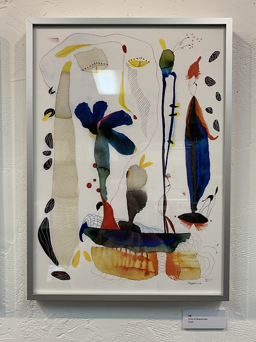 P6 Framed Print of Watercolor by Suyao Tian