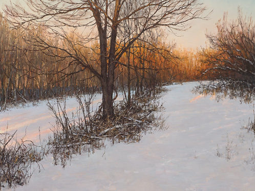 """Fading Gold"" Hannah C. Heyer Oil Painting"