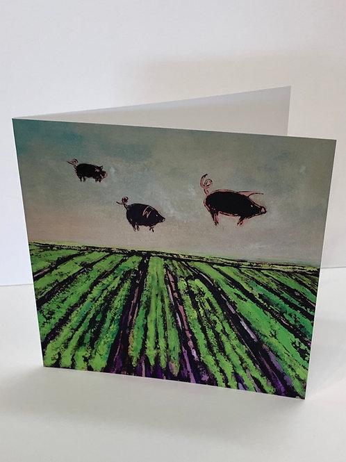 Susan Solomon Skyhogs Greeting Card