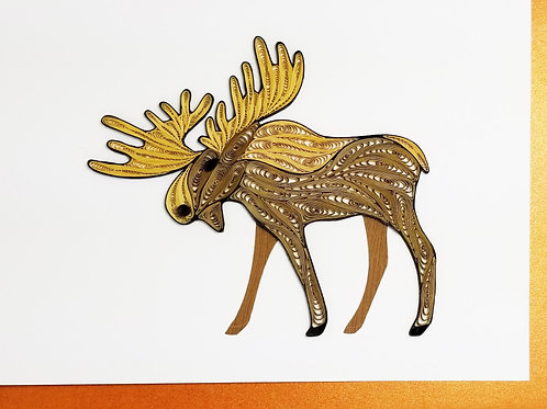 Iconic Quilling Moose Greeting Card