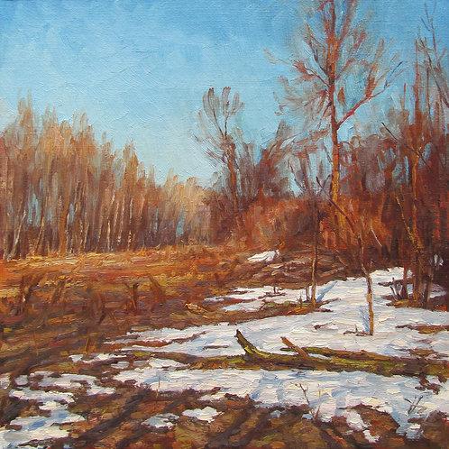"""Leftover Snow"" Hannah C. Heyer Oil Painting"