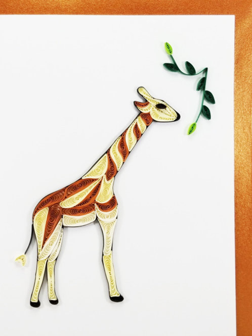 Iconic Quilling Giraffe Greeting Card