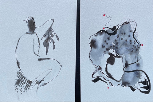 #3,4 Watercolor Set of 2 by Suyao Tian