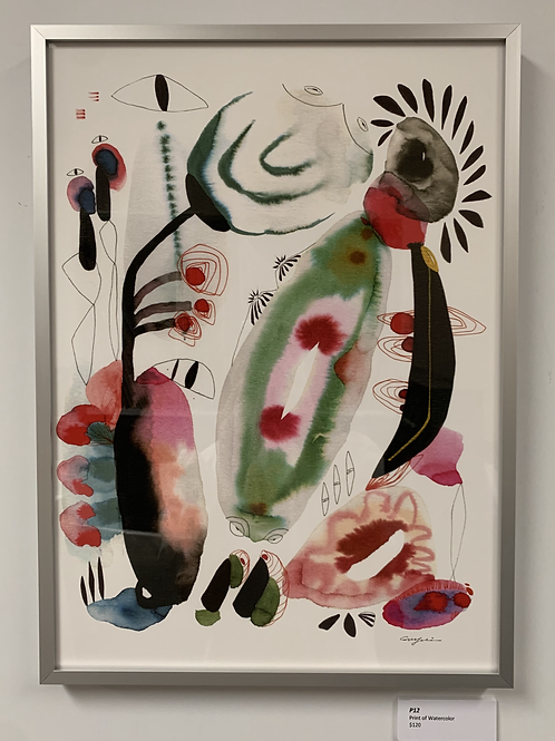 P12 Framed Print of Watercolor by Suyao Tian
