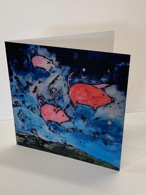 Susan Solomon Nighthogs Greeting Card