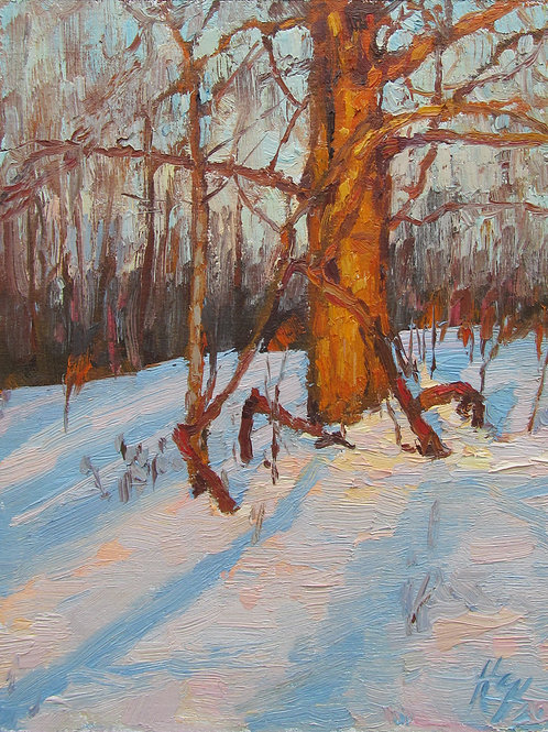 "SOLD ""February Harmonies"" Hannah C. Heyer Oil Painting"