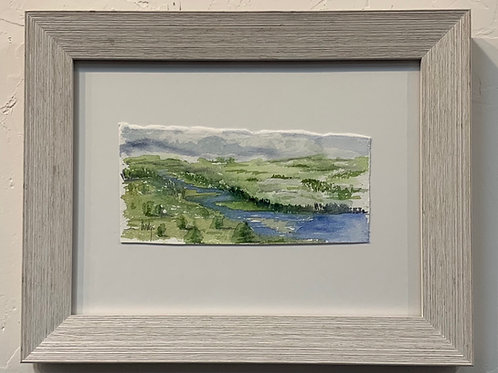 SOLD Saint Croix River Valley Watercolor by Marty Owings