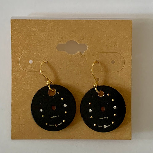 SOLD Bitz of Time Watch Face Earrings