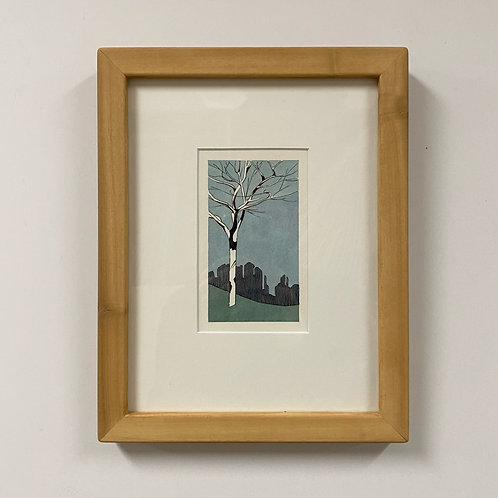 SOLD Trinity Tree Watercolor by Andrew Grum Carr