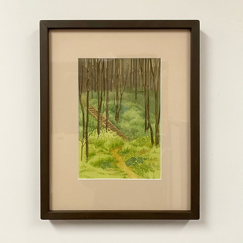 SOLD Simon's Ravine Watercolor by Andrew Grum Carr