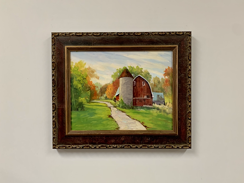 """Judith Anderson """"East Union Barn"""" Oil Painting"""