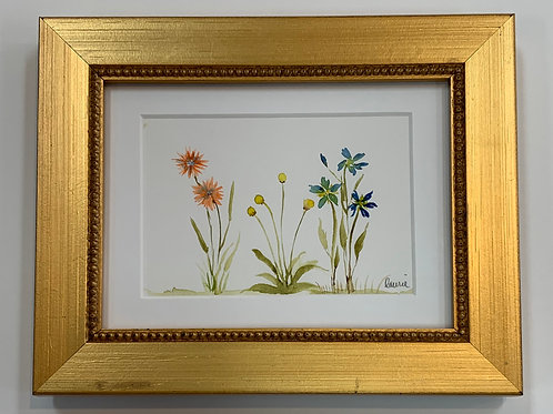 Floral Watercolor by Laurie Plattes
